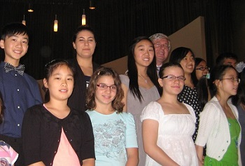 Piano students of Debut Piano Studio